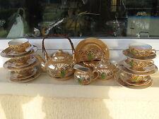 Service à thé JAPONAIS Complet 6 Pers.GEISCHA VERTE