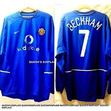 2002-2003 Manchester United Manu XXL Jersey Shirt Nike Vodafone Beckham Long Sl