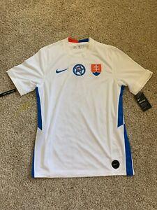 New Nike Men's White Slovensky Dri Fit Jersey Size M