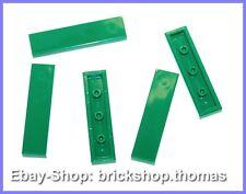 Lego 5 x Fliesen grün (1 x 4) - 2431 - Tile Green - NEU / NEW