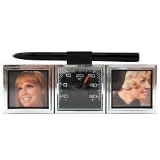 Auto Doppel Bilderrahmen Fotorahmen aus 1970 mit Thermometer HR Art. 01229S