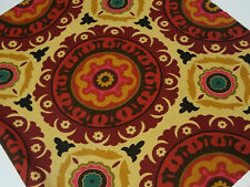 Waverly 3 Yds X 54 Solar Panel Henna Suzani Medallion Fabric Gold Red
