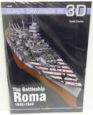 Kagero 16040 - Super Drawings in 3D, The Battleship Roma 1942-43    Book     New