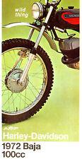 1972 HARLEY-DAVIDSON BAJA 100 MOTORCYCLE BROCHURE -BAJA 100