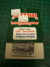 4mm Markits Balance Weights & Axle-Nut Covers For LMS Duchess