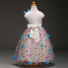 Baby Kids Girls Sleeveless Princess Dress Party Wedding Pageant Tutu Dresses