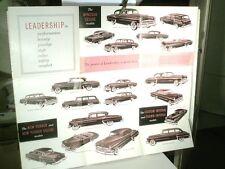 DEPLIANT/AFFICHE GAMMES CHRYSLER NEW YORKER, WINDSOR, CROWN IMPERIAL : 1953/54