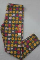 NEW Girls Ankle Leggings Size Large 10 - 12 Stretch Pants EMOJI Smiley Faces