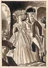 Der ADEL - Edy LEGRAND - RÉVOLUTION FRANCAISE - plume et aquarelle signée 1922