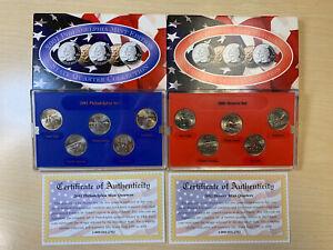 2001 Philadelphia & Denver Mint Edition State Quarter Set