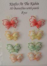 3 D Farfalle per Card Making e i progetti CRAFT Rosso / Giallo / Verde / Arancione