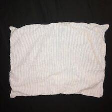 Nautica Striped Chambray Orange Pillow Case Sham Standard Cover