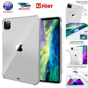 """For iPad Pro 11"""" 12.9"""" 2021 2020 Case Clear Slim Shockproof TPU Protective Cover"""