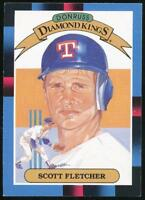 1988 Donruss Diamond Kings #11 Scott Fletcher Texas Rangers