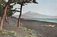 Vintage Postcard, Mount Fuji Japan, Hong Kong Stamp & Postmark, Posted 1958