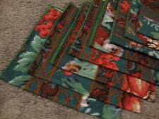 "Dinner Napkins Linen Cloth Decor -16"" x 17"" Tableware Floral Pattern Set 8~  927"