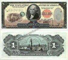 "ASTONISHING $1 ZILLION INFLATED STATES GEORGE ""BUSHINGTON""  FANTASY ART NOTE!"