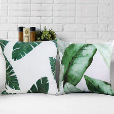 2x Palm Tree Leaves Throw Cushion Covers Pillow Covers Square Decor for Sofa Car
