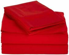 Red Solid - Duvet Sets With Buttoned & Corner Ties 1000 TC 100% Cotton