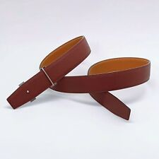 Handmade 32mm Reversible Epsom Calf Leather belt Blood Red Tan Free Shipping