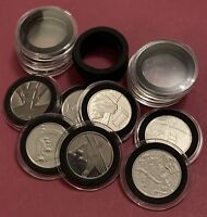 26 X 30mm Clear Capsule Holder With Insert Foam (NO COIN ) For 10p Coin A-Z