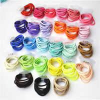 New Baby Girl Kids Tiny Hair Bands Elastic Ties Ponytail Holder 100 Pcs