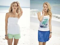 2 in 1 Top in Skirt Wear as a skirt or strapless top 100% cotton Size XL S M L