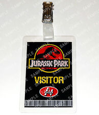 Jurassic Park Dinosaur Visitor Pass Cosplay Costume Prop Gift Comic Con
