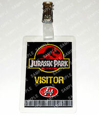 Jurassic Park ID Badge Dinosaur Visitor Pass Cosplay Costume Prop Gift Comic Con