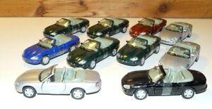 Job Lot Cararama 1:43 Jaguar XK8 Convertible Diecast Models - Unboxed