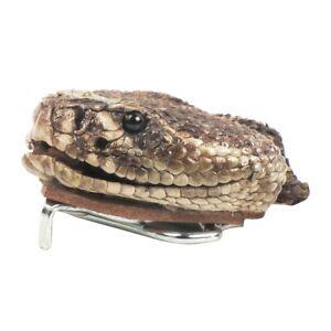 Genuine Taxidermy Rattlesnake Head Belt Buckle Real Snake Skin Cloth Accessory