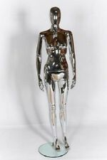 Femelle Display Mannequin sans visage Egg Head Chrome Abstract finition debout pose