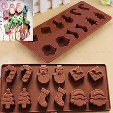 Christmas Snowman Silicone Cake Cookies Mould Baking Chocolate Ice Cube Tray DIY