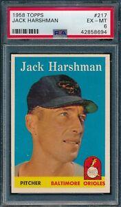 1958 Topps Set Break # 217 Jack Harshman PSA 6 *OBGcards*