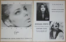 SANDRA LAUER CRETU 2x 1986 spain magazine LP Adverts ADS magazine clippings