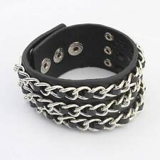 Leather Statement Costume Bracelets without Stone
