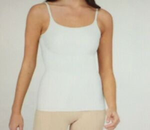 Assets Spanx Shaping Cami Size XL Stretch Seamless 10024R Smoothing White A15