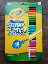 Crayola Supertips Washable Markers 50 Pack New