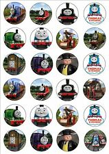24 x Thomas the tank engine cake toppers edible cupcake decorations