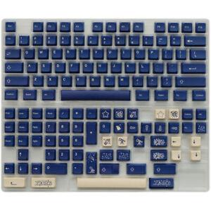 Stargaze Keycap Blue XDA Height PBT 137 Keycaps Dye-sub for Cherry MX Keyboard