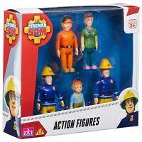 Fireman Sam 05648 Action 5 Figure Pack - Sam, Norman, Elvis, Dilys and Tom Toy
