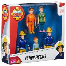 Fireman Sam 05648 Action 5 Figure Pack - Sam, Norman, Elvis, Dilys and Tom Toy