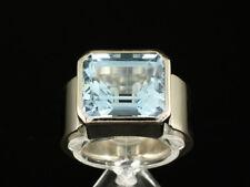 Moderner Aquamarin Ring ca. 7,40ct  kleine Ringweite 51   18g 750/- Weißgold