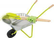 Schubkarre mit Gartenwerkzeug für Kinder, Rechen, Spaten, Handschuhe