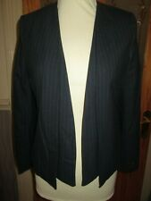 98c6d0bbf NEXT Dark Blue Pinstripe Tailored Lined Jacket Size 10 Petite BRAND Nes