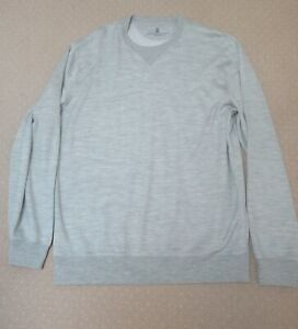 Brunello Cucinelli NEW, men's cotton/silk pullover shirt, size XXL, made in Ital