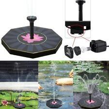 Solar Powered Watering Fountain Garden Plant Pump Pond for Bird Bath Tank Pool