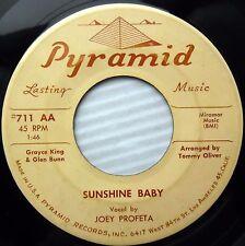 JOEY PROFETA Sunshine baby / Lou Anne 1961 TEEN Rocker 45 e3911