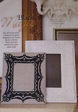 BLACK Magic Photo Frame cross stitch chart foto imbottita (B1)