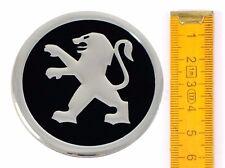 PEUGEOT ★ 4 Stück ★ ALUMINIUM Ø60mm Aufkleber Emblem Felgenaufkleber Radkappen